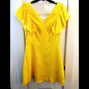 WORN ONCE PERFECT Target Yellow Ruffle Dress